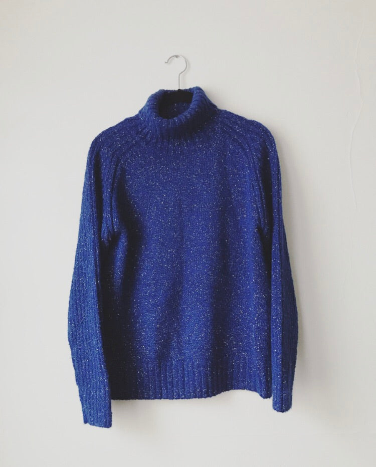 Vintage Blue + Gold Sweater