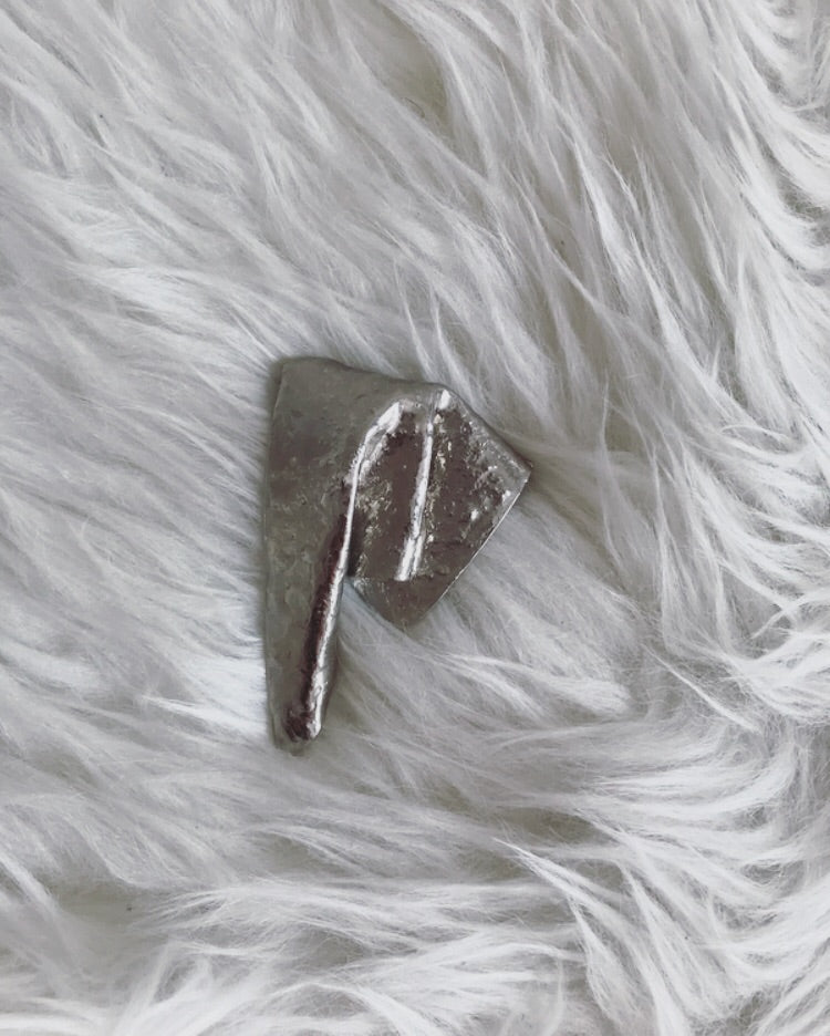 Vintage Abstract Silver Pin