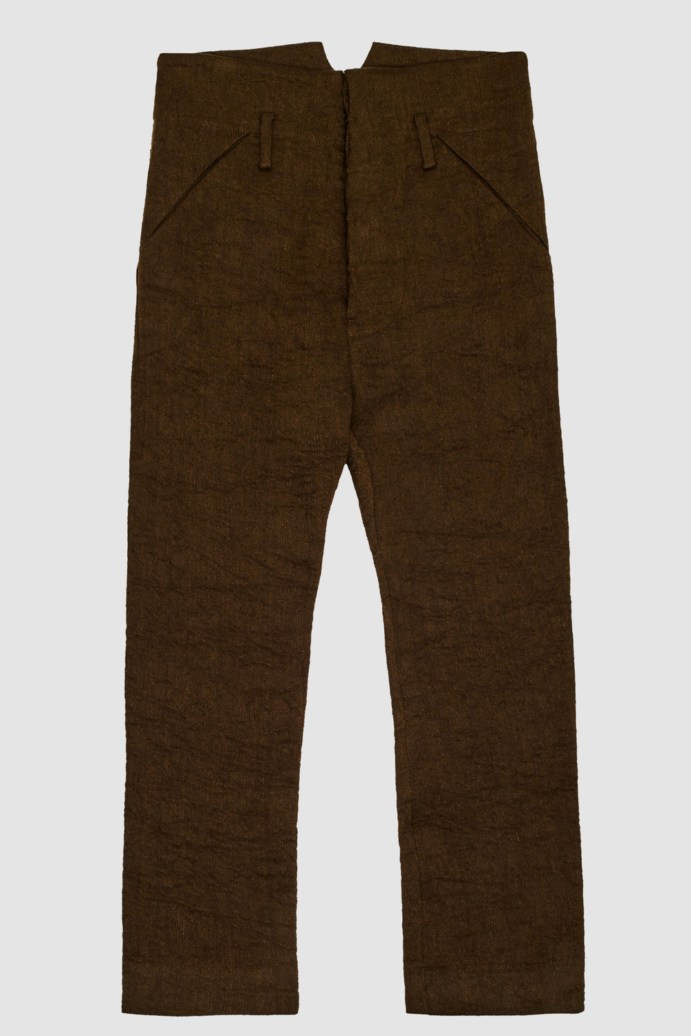Low Crotch Pants Brown