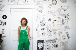 Nashville artist and illustrator Emily Miller in her studio