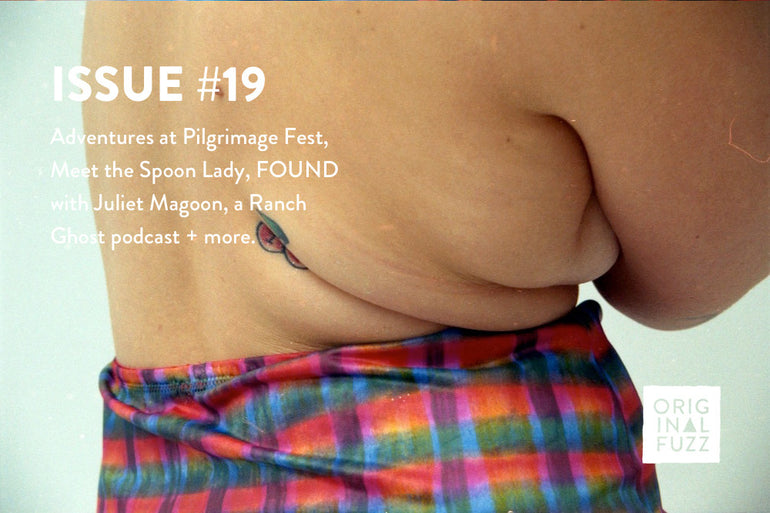 Featured photo for Issue #19: Original Fuzz Goes to Pilgrimage Fest, Meet the Spoon Lady and the State of Busking in Asheville, a Ranch Ghost podcast + more!