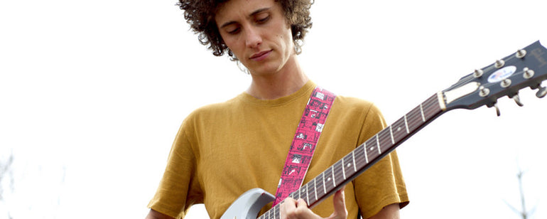Featured photo for Introducing the Artist Series Guitar Strap in Ron Gallo