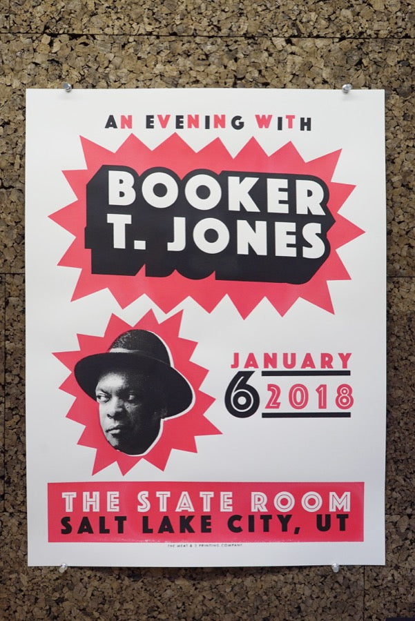 Carl Carbonell's who poster for Booker T. Jones