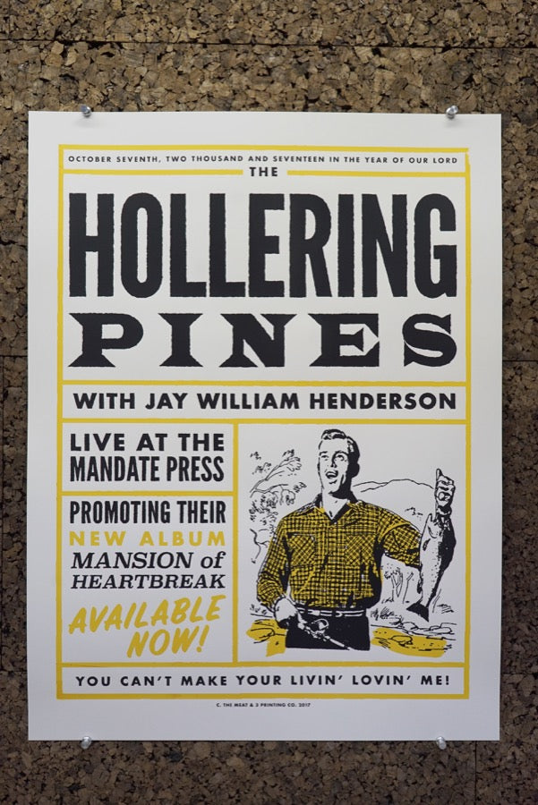 "Carl Carbonell ""Hollering Pines"" Poster"