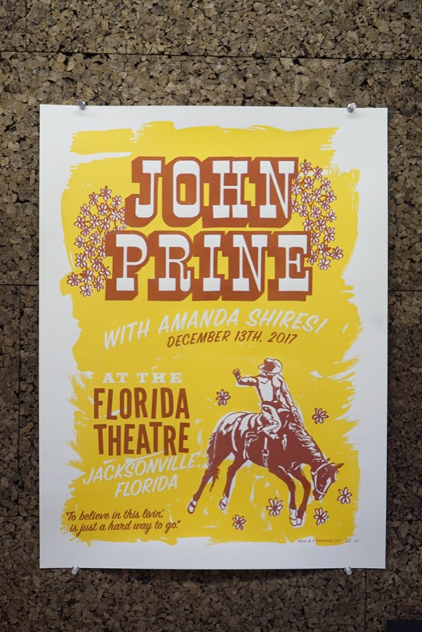 Carl Carbonell's poster for John Prine
