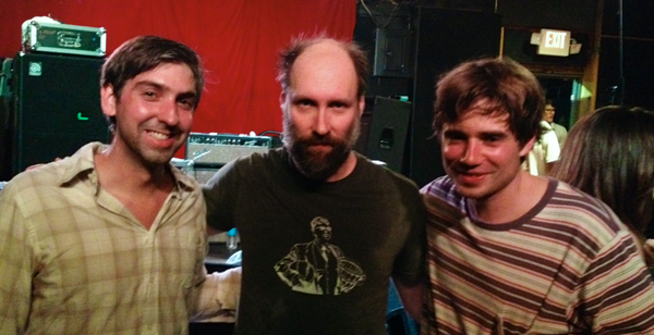 Lee and Zach pose with Doug Martsch after the show in Jacksonville at Jack Rabbits.