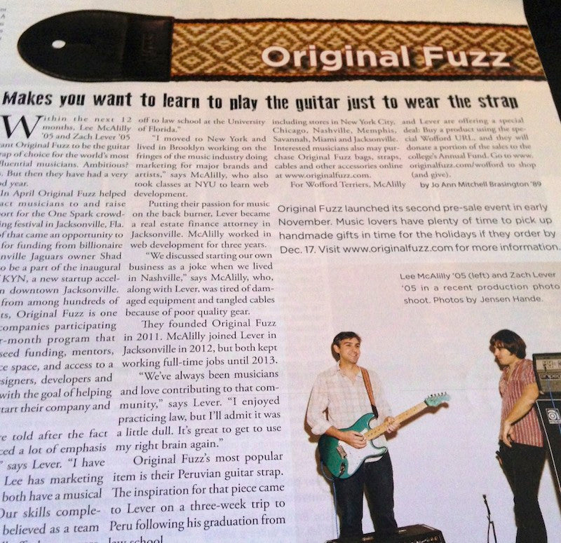 Original Fuzz Featured in Wofford Today