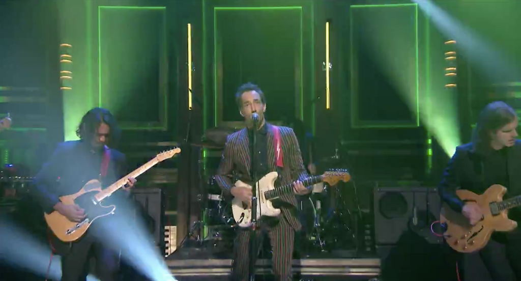 Albert Hammond Jr. performs on The Tonight Show with Jimmy Fallon