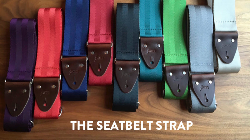 All of our new seatbelt guitar straps are made from repurposed seatbelt webbing