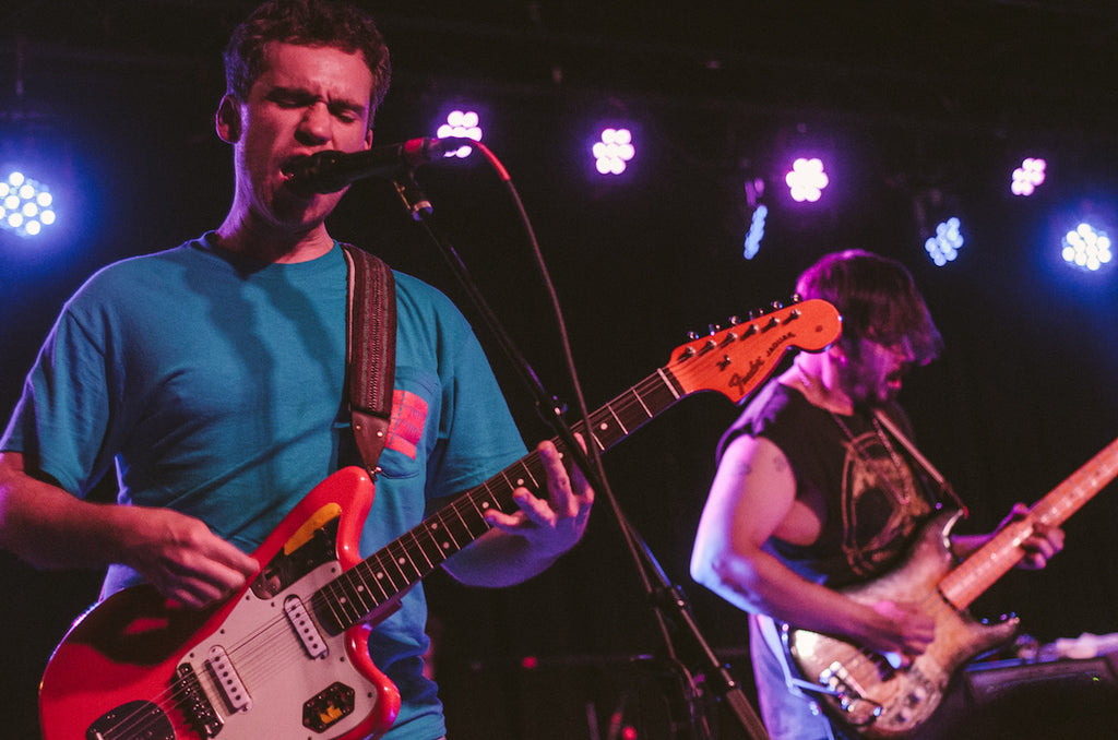 Andrew Savage and Sean Yeaton of Parquet Courts perform at the Basement East in Nashville on June 3, 2018