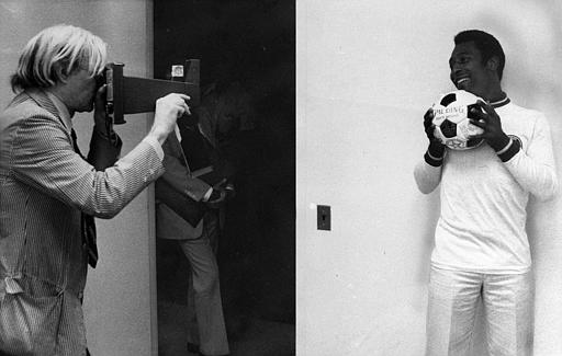 Andy Warhol photographs the soccer legend Pele