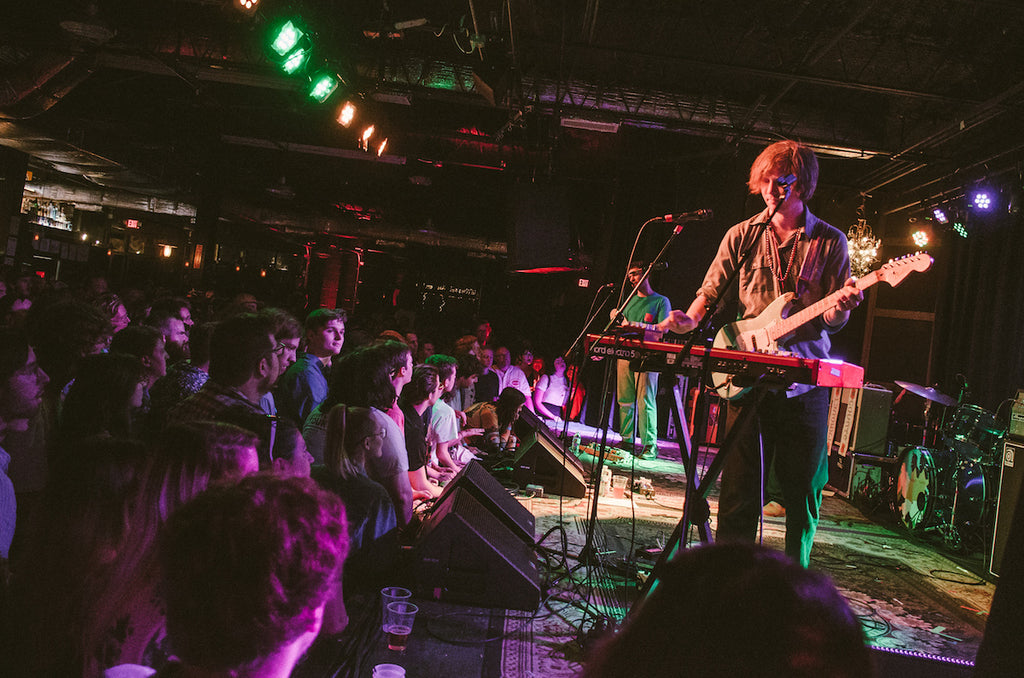 Austin Brown plays synth on tour for Wide Awake! with Parquet Courts
