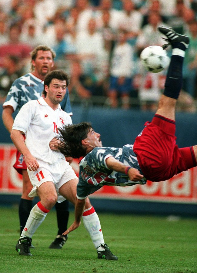 Marcelo Balboa's famous bicycle kick in the 1994 World Cup