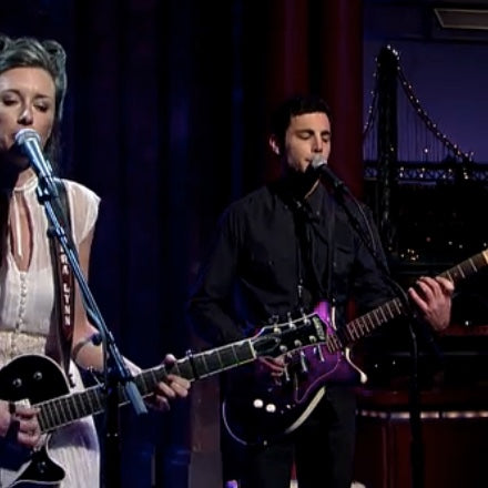 Ben Lewis performs on Letterman with Lera Lynn in his Original Fuzz guitar strap
