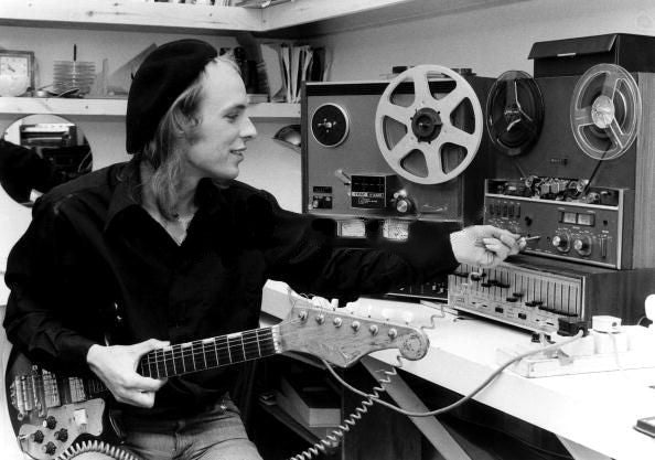 Brian Eno making a record.