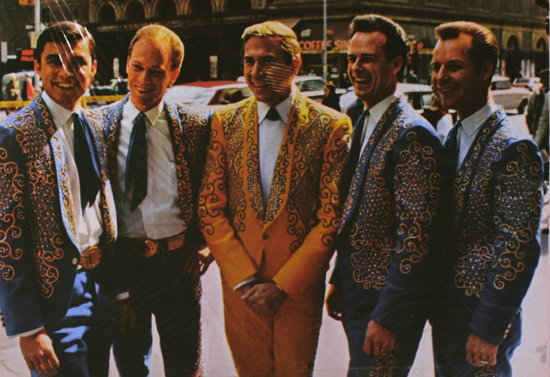 Buck Owens and his Buckaroos outside of Carnegie Hall