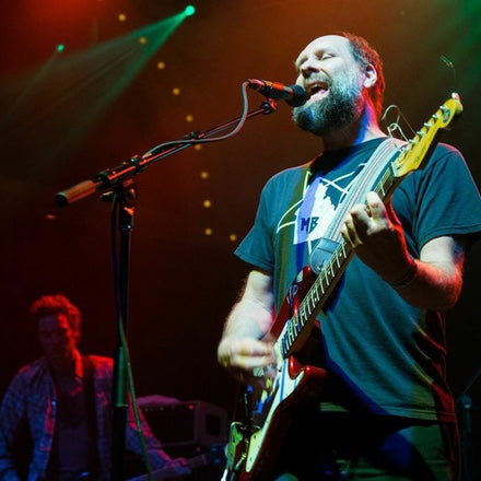 Built to Spill performs in their Peruvian guitar straps