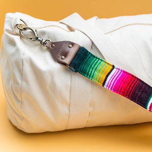 Original Fuzz guitar strap inspired serape handbag strap made in Nashville, TN.