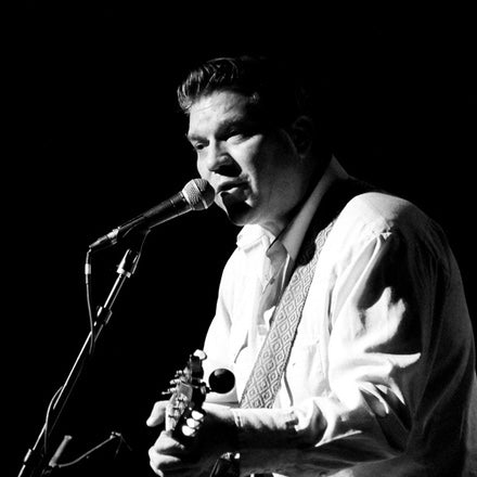 David Dondero performs in his Original Fuzz guitar straps