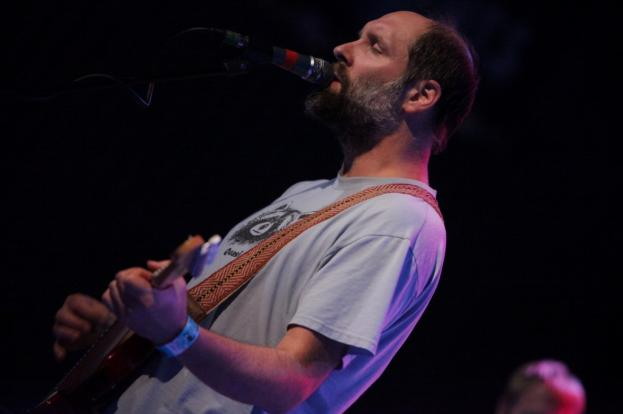 Doug Martsch plays a fuzz strap At the State Theater in St. Petersburg on September 14, 2012