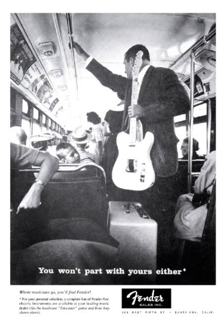 Fender bus ad