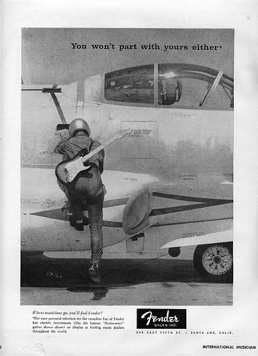Fender Fighter pilot ad