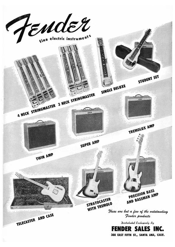 Fender fine electric instruments ad