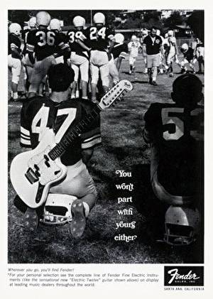 Fender football ad