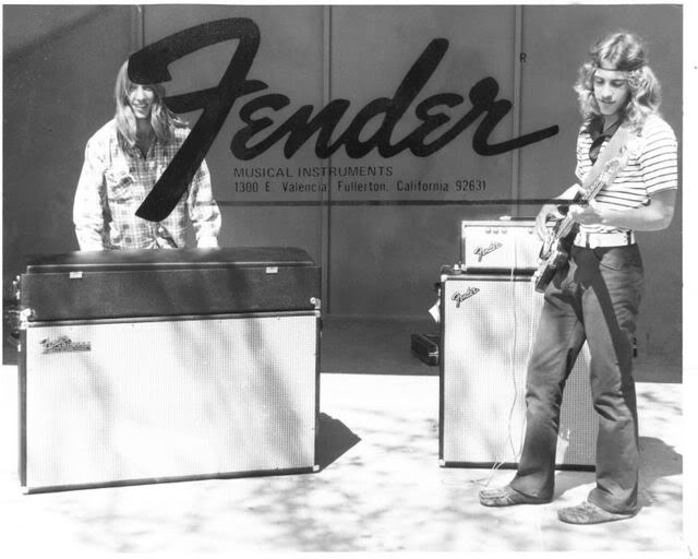 Garage band with their fenders