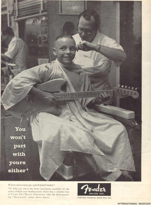 Fender haircut ad