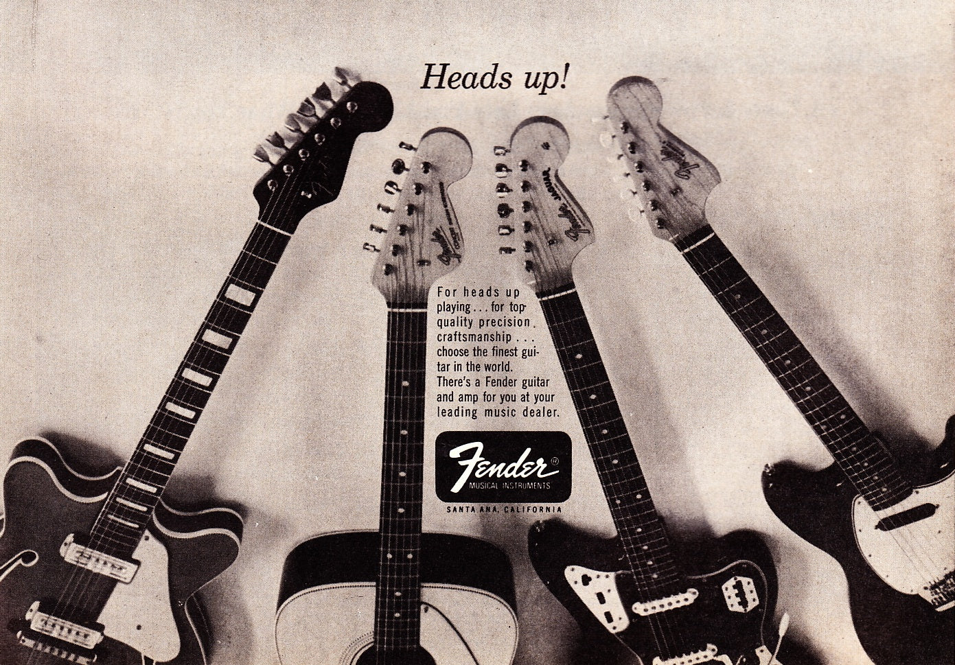 Fender heads up ad