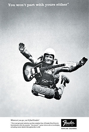 Fender sky diving ad