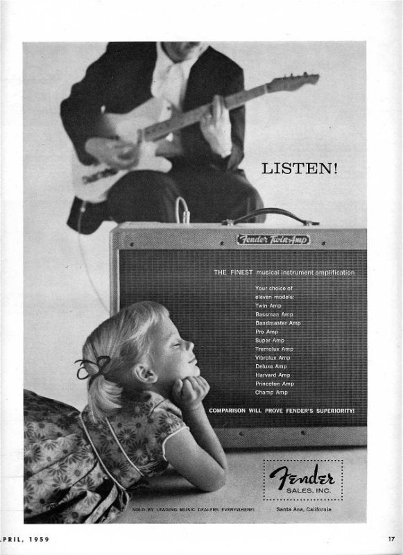 Fender Tube amp ad