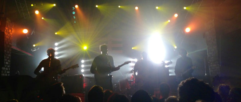 Frightened Rabbit wearing original fuzz gear on stage at Freebird live in Jacksonville, FL