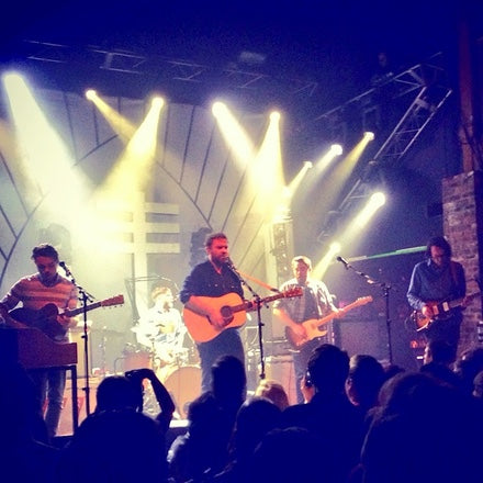 Frightened Rabbit perform in their Original Fuzz guitar straps
