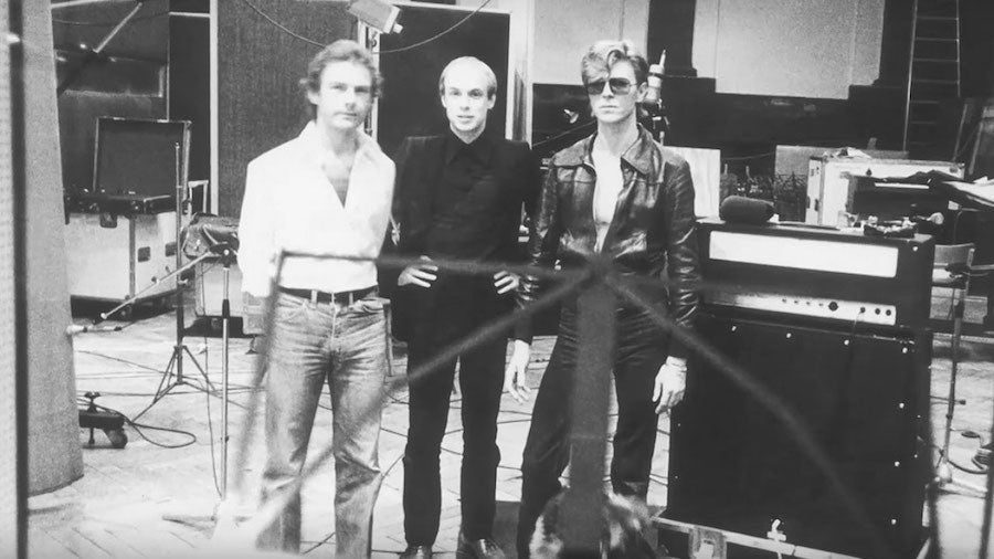 Robert Fripp, Brian Eno and David Bowie.
