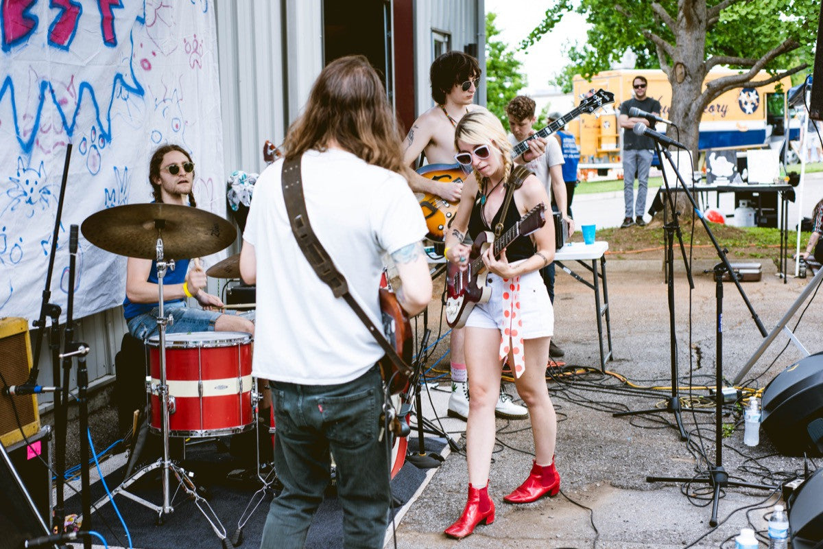 scenes from our first-ever music festival, Fuzz Fest