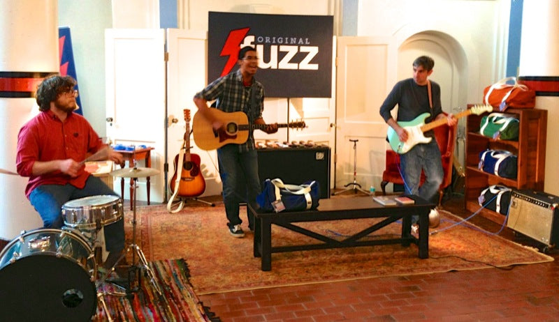 Jam session at the fuzz booth during one spark