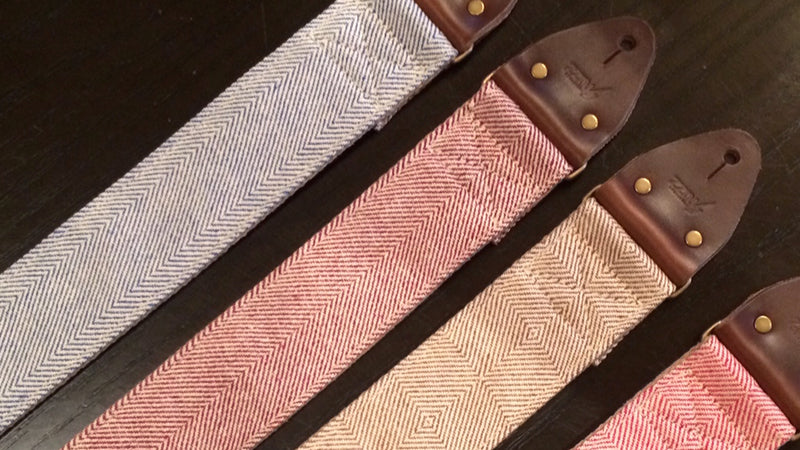 Preview of our new Indian guitar strap patterns and colors