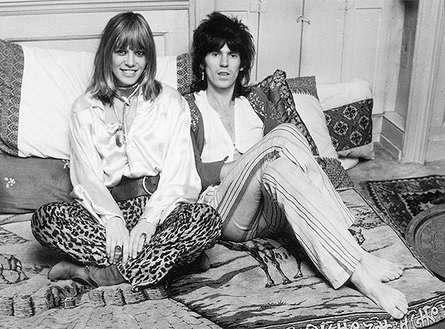 Keith Richards and Anita Pallenberg in the early days of the Rolling Stones