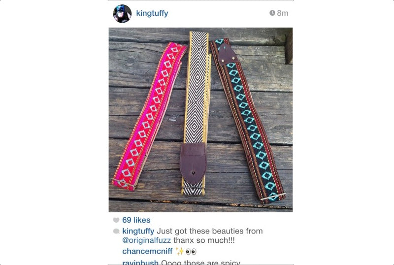 We were stoked when King Tuff posted our straps on his instagram profile