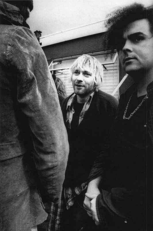 Kurt Cobain with King Buzzo