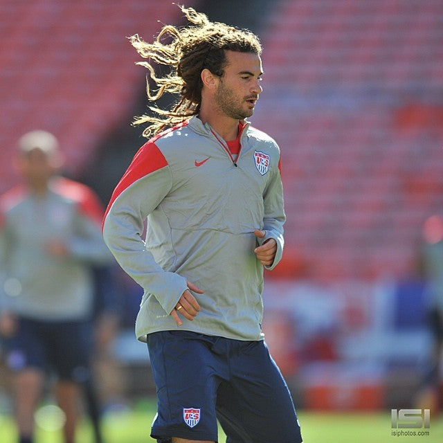 Kyle Beckerman during a training session for the 2014 World Cup