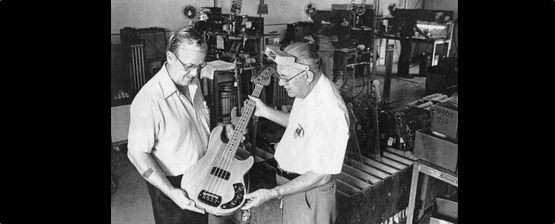 Leo Fender and George Fullterton at the G&L factory