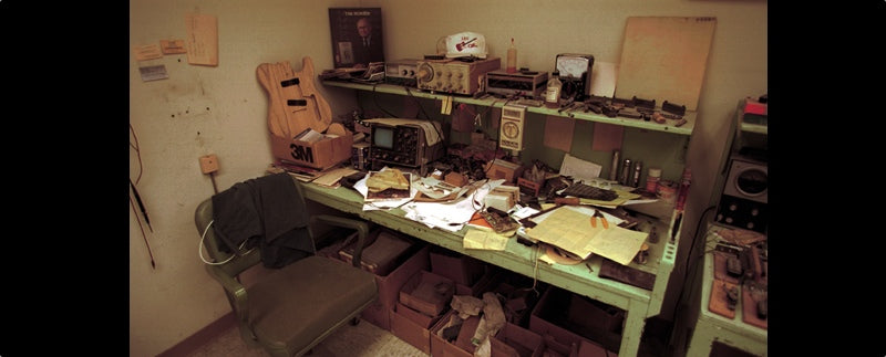 Leo Fender's workbench