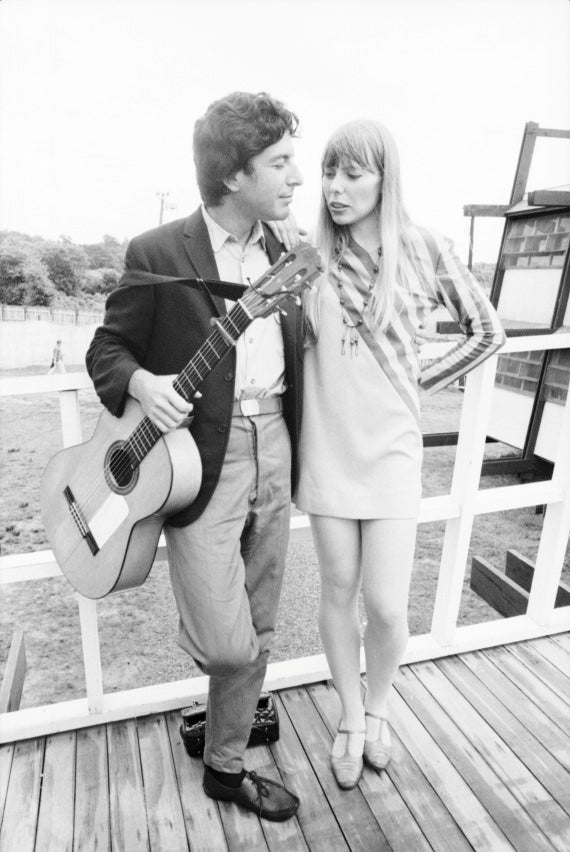 Leonard Cohen and Joni Mitchell Backstage at The Newport Folk Festival in 1967