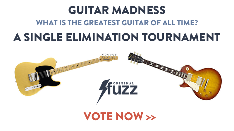 Banner for the the March Madness of Guitars Tournament