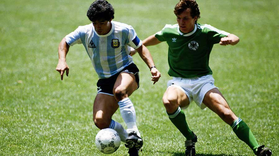 Diego Maradonna at the '86 World Cup