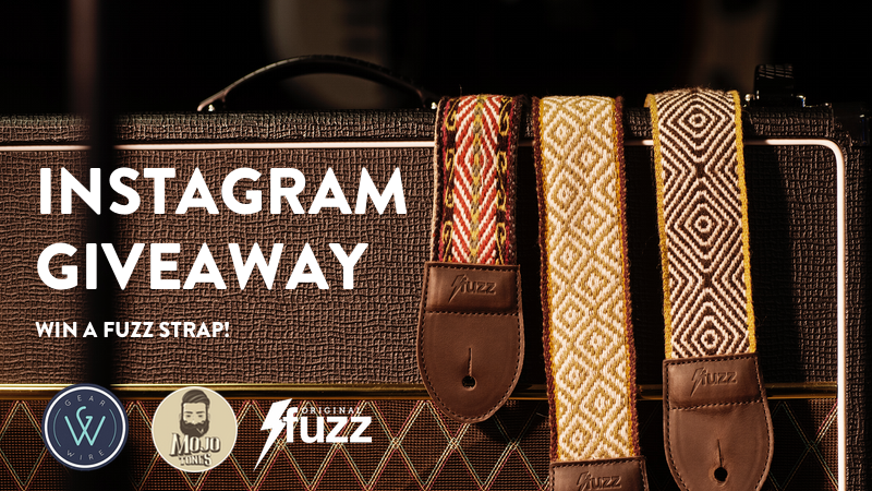 Enter the Fuzz guitar strap giveaway on Instagram. We're teamed up with Gearwire and Mojotones on this promotion