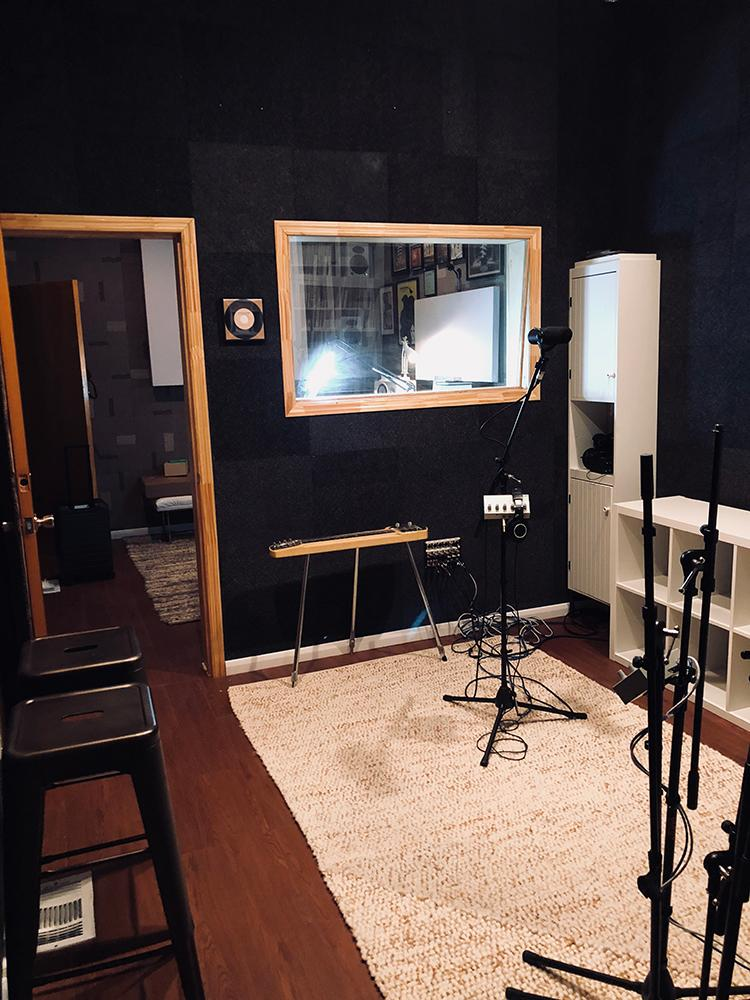 Another shot of the live room at Leesta Vall Sound Recordings
